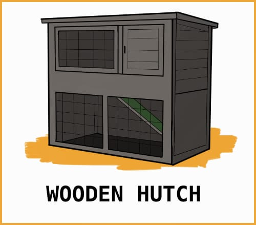 drawing of a wooden hutch