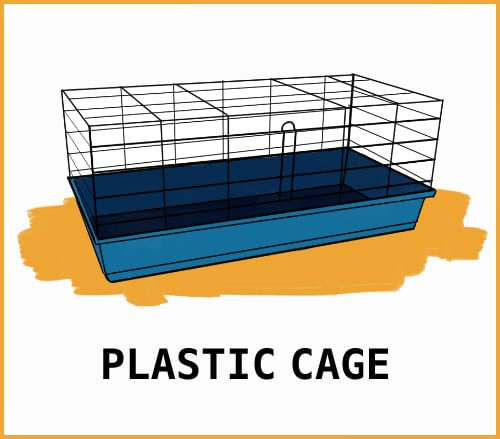 drawing of a plastic cage