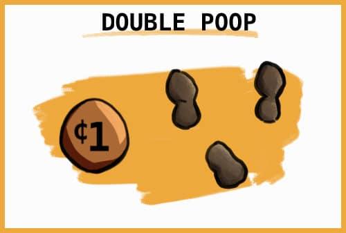 double impacted rabbit poop