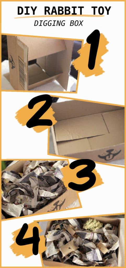 DIY RABBIT DIGGING BOX