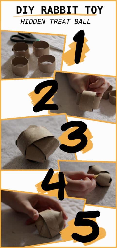 DIY rabbit treat ball