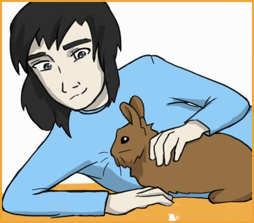 lay next to your rabbit