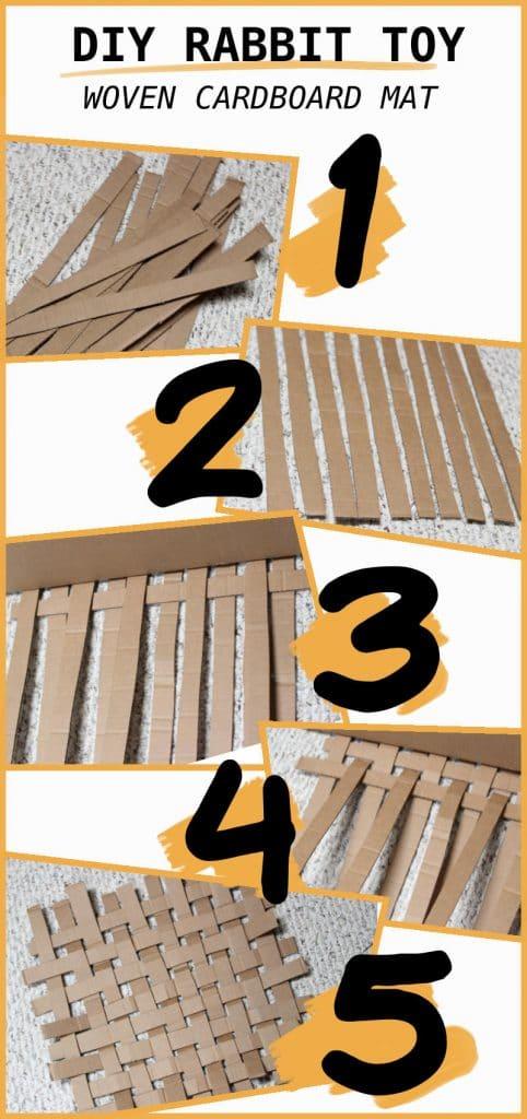 Woven Cardboard Mat DIY Toy