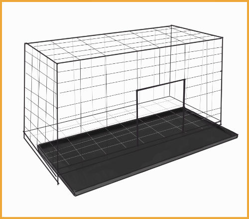 rabbit cage with tray on the bottom